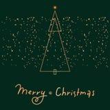 Χαρούμενα Χριστούγεννα που γιορτάζει τη ευχετήρια κάρτα διάνυσμα προτύπων γραμματοθηκών φακέλων σχεδίου επαγγελματικών καρτών Στοκ Εικόνα
