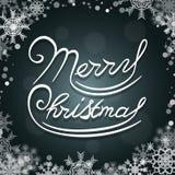 Χαρούμενα Χριστούγεννα που γράφει το σχέδιο λογότυπων Στοκ Φωτογραφία