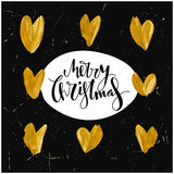 Χαρούμενα Χριστούγεννα που γράφει το σχέδιο Στοκ Εικόνες