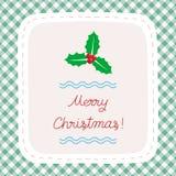 Χαρούμενα Χριστούγεννα που χαιρετά card35 Στοκ εικόνες με δικαίωμα ελεύθερης χρήσης