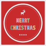 Χαρούμενα Χριστούγεννα που χαιρετά card40 Στοκ Εικόνες