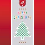 Χαρούμενα Χριστούγεννα που χαιρετά card41 Στοκ Εικόνα