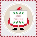 Χαρούμενα Χριστούγεννα που χαιρετά card42 Στοκ Φωτογραφία