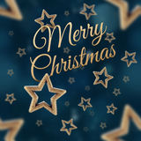 Χαρούμενα Χριστούγεννα στο άνευ ραφής σχέδιο αστεριών νύχτας Στοκ Φωτογραφία