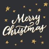 Χαρούμενα Χριστούγεννα χειροποίητης καλλιγραφίας « Στοκ Εικόνες