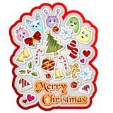 Χαρούμενα Χριστούγεννα Doodle Στοκ εικόνα με δικαίωμα ελεύθερης χρήσης
