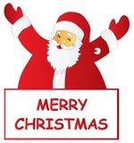 Χαρούμενα Χριστούγεννα Santa Στοκ εικόνες με δικαίωμα ελεύθερης χρήσης