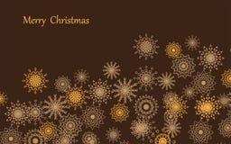 Χαρούμενα Χριστούγεννα snowflake ένα υπόβαθρο μια κάρτα Στοκ Εικόνες