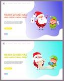 Χαρούμενα Χριστούγεννα Webpage και διάνυσμα καλής χρονιάς ελεύθερη απεικόνιση δικαιώματος