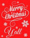 Χαρούμενα Χριστούγεννα Y'all διανυσματική απεικόνιση