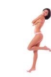 χαρούμενη γυμνή γυναίκα Στοκ Φωτογραφίες