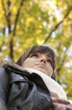 χαρούμενη γυναίκα πορτρέτ&om στοκ φωτογραφίες