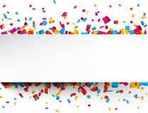 χαρούμενη ταπετσαρία κομφετί εορτασμού ανασκόπησης Στοκ εικόνα με δικαίωμα ελεύθερης χρήσης