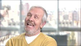 Χαρούμενος ηλικιωμένος στενός επάνω ατόμων απόθεμα βίντεο