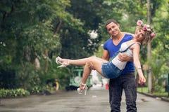 Χαρούμενο ζεύγος Στοκ Φωτογραφίες