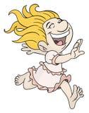 Χαρούμενο κορίτσι διανυσματική απεικόνιση