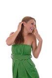 Χαρούμενο κορίτσι Στοκ εικόνα με δικαίωμα ελεύθερης χρήσης