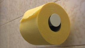 Χαρτί τουαλέτας απόθεμα βίντεο