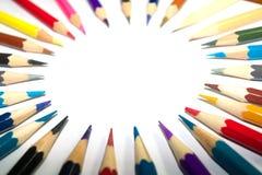 Χαρτικά που χρησιμοποιούνται για να χρωματίσουν την τέχνη στοκ φωτογραφία