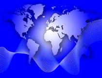χαρτογραφήστε τον κόσμο Στοκ φωτογραφία με δικαίωμα ελεύθερης χρήσης