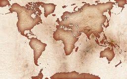 χαρτογραφήστε τον κόσμο Στοκ εικόνες με δικαίωμα ελεύθερης χρήσης