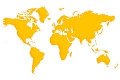 χαρτογραφήστε τον κόσμο Στοκ φωτογραφίες με δικαίωμα ελεύθερης χρήσης