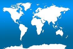 χαρτογραφήστε τον κόσμο Στοκ εικόνα με δικαίωμα ελεύθερης χρήσης