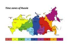 χαρτογραφήστε το διάνυσμα της Ρωσίας Στοκ φωτογραφίες με δικαίωμα ελεύθερης χρήσης