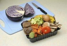 Χαρτοκιβώτιο αποβλήτων κουζινών Στοκ Φωτογραφίες