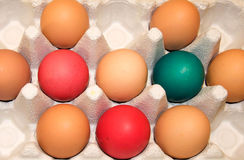 Χαρτοκιβώτιο αυγών Πάσχας Στοκ φωτογραφίες με δικαίωμα ελεύθερης χρήσης