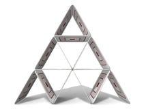 χαρτονένια πυραμίδα Στοκ εικόνα με δικαίωμα ελεύθερης χρήσης
