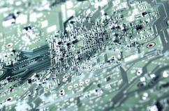 χαρτονιών ηλεκτρονική ακτίνα επίδρασης κυκλωμάτων στενή επάνω στο Χ Στοκ Φωτογραφία