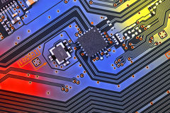 χαρτονιών ηλεκτρονική ακτίνα επίδρασης κυκλωμάτων στενή επάνω στο Χ Στοκ Εικόνες
