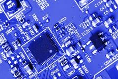 χαρτονιών ηλεκτρονική ακτίνα επίδρασης κυκλωμάτων στενή επάνω στο Χ Στοκ Εικόνα