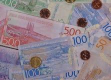 Χαρτονομίσματα σουηδικών κορωνών και νομίσματα, Σουηδία Στοκ φωτογραφία με δικαίωμα ελεύθερης χρήσης