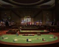 Χαρτοπαικτική λέσχη, αίθουσα παιχνιδιού, απεικόνιση Blackjack ελεύθερη απεικόνιση δικαιώματος
