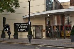 Χαρτοπαικτική λέσχη Λονδίνο Βικτώριας Grosvenor Στοκ Εικόνα