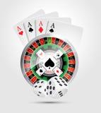 Χαρτοπαικτική λέσχη - όλος ο νικητής παιχνιδιών χαρτοπαικτικών λεσχών απεικόνιση αποθεμάτων