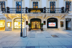 Χαρτοπαικτική λέσχη Wien στην κεντρική Βιέννη, parto των χαρτοπαικτικών λεσχών Αυστρία Στοκ φωτογραφία με δικαίωμα ελεύθερης χρήσης