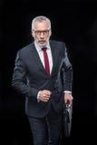 Χαρτοφύλακας εκμετάλλευσης επιχειρηματιών Στοκ φωτογραφία με δικαίωμα ελεύθερης χρήσης