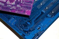 χαρτόνι ηλεκτρονικό Το χρώμα είναι μπλε Στοκ εικόνες με δικαίωμα ελεύθερης χρήσης