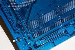 χαρτόνι ηλεκτρονικό Το χρώμα είναι μπλε Στοκ εικόνα με δικαίωμα ελεύθερης χρήσης