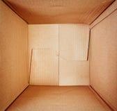 χαρτόνι κιβωτίων κενό Στοκ εικόνες με δικαίωμα ελεύθερης χρήσης