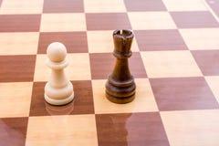 Χαρτόνι σκακιού με τα κομμάτια σκακιού Στοκ Φωτογραφίες