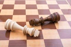 Χαρτόνι σκακιού με τα κομμάτια σκακιού Στοκ εικόνες με δικαίωμα ελεύθερης χρήσης