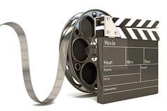 Χαρτόνι χειροκροτήματος με το εξέλικτρο ταινιών διανυσματική απεικόνιση