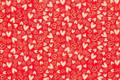 χαρωπό τύλιγμα εγγράφου καρδιών Στοκ φωτογραφίες με δικαίωμα ελεύθερης χρήσης