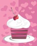χαρωπό cupcake Στοκ εικόνα με δικαίωμα ελεύθερης χρήσης
