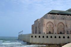 Χασάν ΙΙ μουσουλμανικό τέμενος που στηρίζεται μερικώς στη θάλασσα Στοκ Εικόνες
