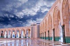 Χασάν ΙΙ μουσουλμανικό τέμενος στη Καζαμπλάνκα, Μαρόκο, Αφρική Στοκ Φωτογραφίες